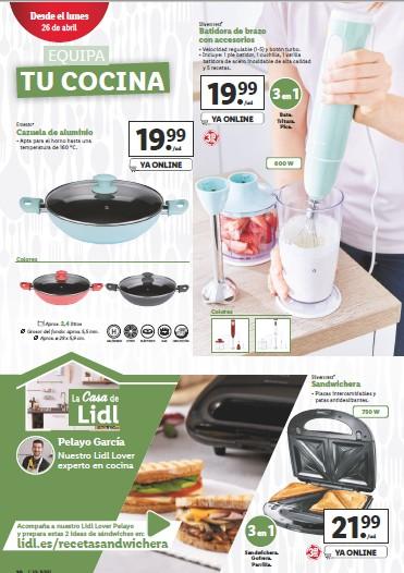 lidl catalogo equipa tu cocina 26/04/21